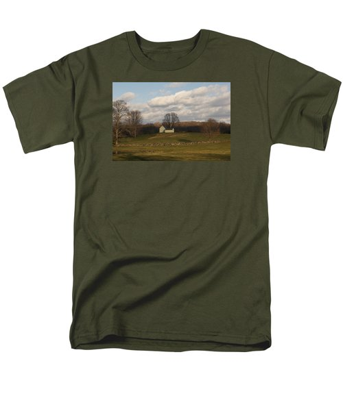 Autumn Barn On The Meadow Men's T-Shirt  (Regular Fit) by Margie Avellino
