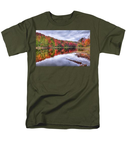 Men's T-Shirt  (Regular Fit) featuring the photograph Autumn Color At The Pond by David Patterson