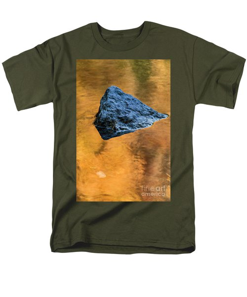 Men's T-Shirt  (Regular Fit) featuring the photograph Autumn Color On Little River - D009990 by Daniel Dempster