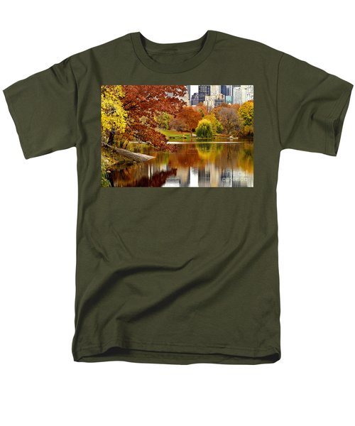 Autumn Colors In Central Park New York City Men's T-Shirt  (Regular Fit) by Sabine Jacobs