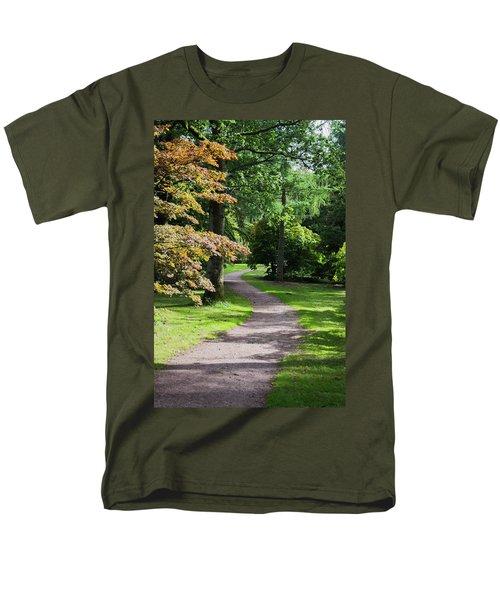 Autumn Forest Path Men's T-Shirt  (Regular Fit) by Scott Lyons