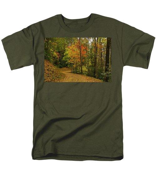 Autumn Forest Road. Men's T-Shirt  (Regular Fit) by Ulrich Burkhalter