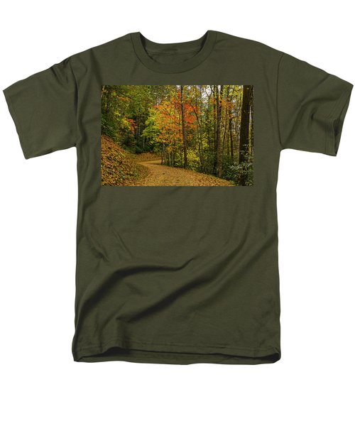 Autumn Forest Road. Men's T-Shirt  (Regular Fit)