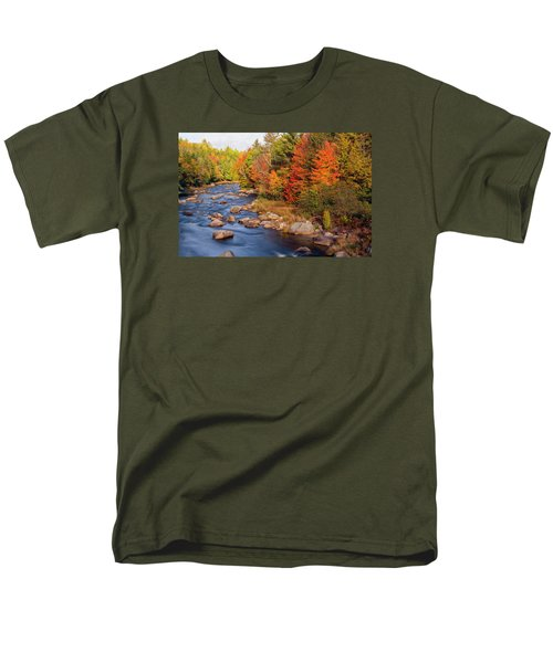Autumn In New Hampshire Men's T-Shirt  (Regular Fit) by Betty Denise