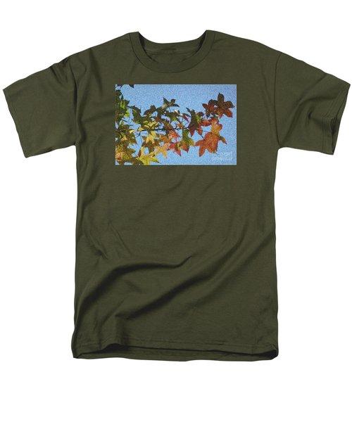 Men's T-Shirt  (Regular Fit) featuring the photograph Autumn Leaves 3 by Jean Bernard Roussilhe