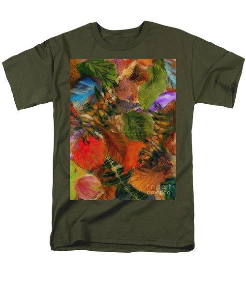 Men's T-Shirt  (Regular Fit) featuring the digital art Autumn Leaves by Klara Acel
