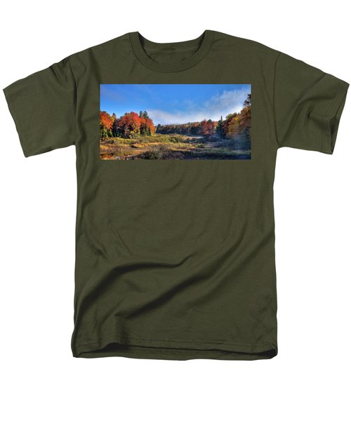 Men's T-Shirt  (Regular Fit) featuring the photograph Autumn Panorama At The Green Bridge by David Patterson