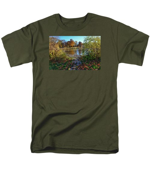 Men's T-Shirt  (Regular Fit) featuring the photograph Autumn Pond by Nikki McInnes