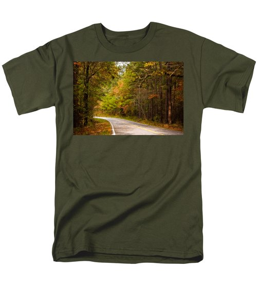 Autumn Road Men's T-Shirt  (Regular Fit) by Lana Trussell