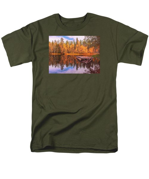 Men's T-Shirt  (Regular Fit) featuring the photograph Autumn Season  by Rose-Maries Pictures
