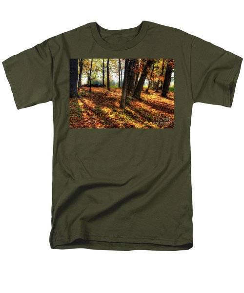 Men's T-Shirt  (Regular Fit) featuring the photograph Autumn Shadows In The Blue Ridge by Dan Carmichael