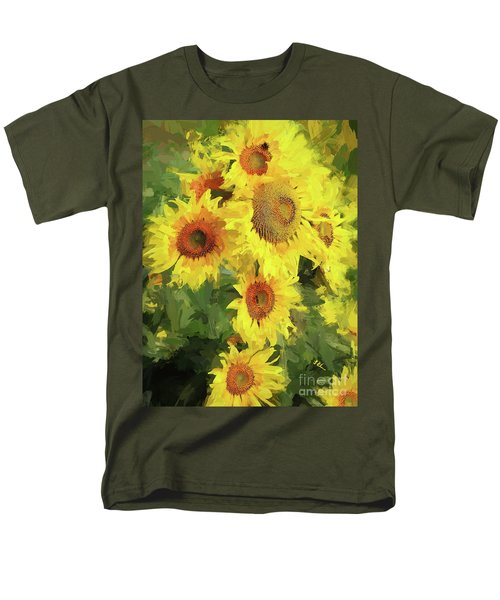 Autumn Sunflowers Men's T-Shirt  (Regular Fit) by Tina LeCour