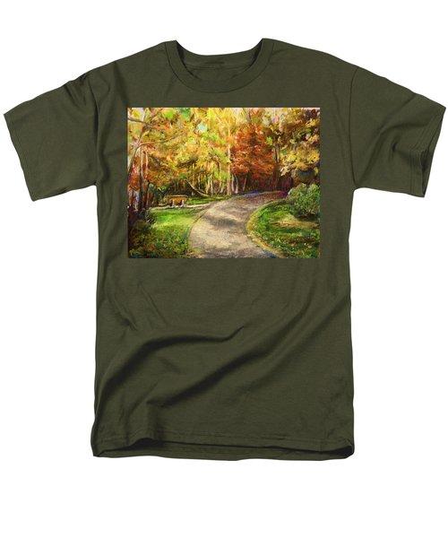 Men's T-Shirt  (Regular Fit) featuring the painting Autumn Walk by Bernadette Krupa