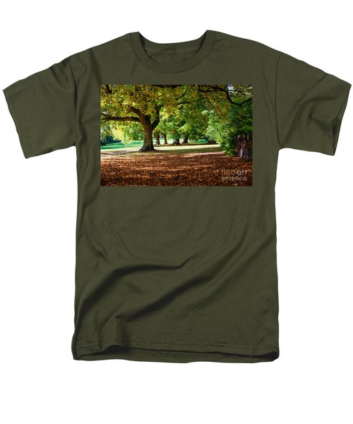 Autumn Walk In The Park Men's T-Shirt  (Regular Fit) by Colin Rayner