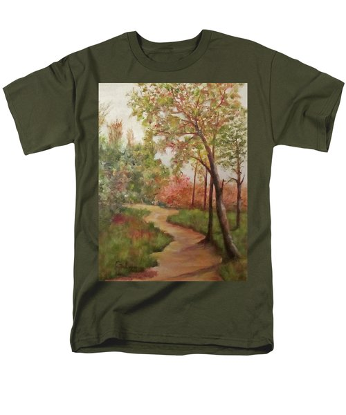 Men's T-Shirt  (Regular Fit) featuring the painting Autumn Walk by Roseann Gilmore