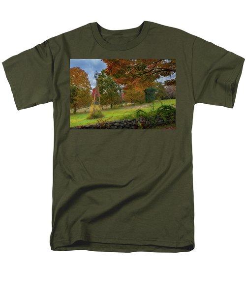 Men's T-Shirt  (Regular Fit) featuring the photograph Autumn Windmill by Bill Wakeley