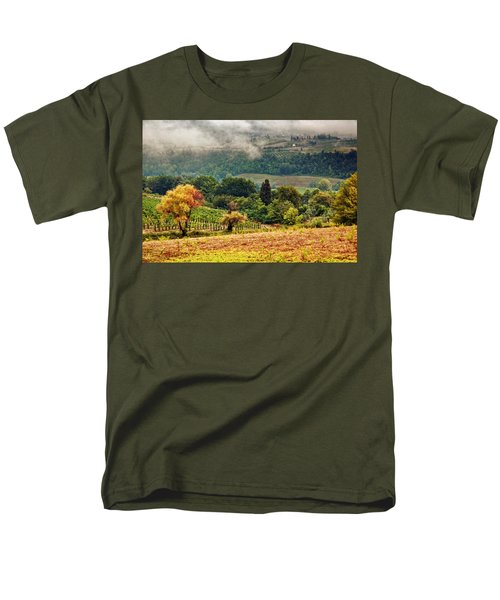 Autumnal Hills Men's T-Shirt  (Regular Fit) by Silvia Ganora