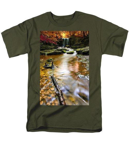Autumnal Waterfall Men's T-Shirt  (Regular Fit) by Meirion Matthias