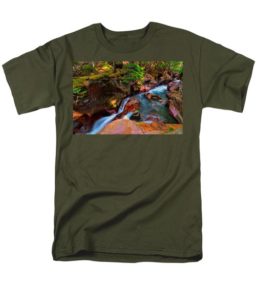 Men's T-Shirt  (Regular Fit) featuring the photograph Avalanche Creek by Greg Norrell