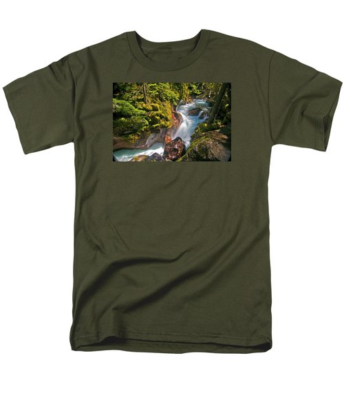 Men's T-Shirt  (Regular Fit) featuring the photograph Avalanche Gorge by Gary Lengyel