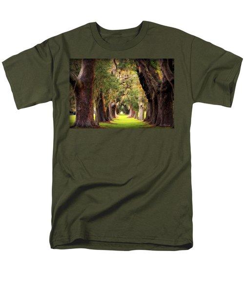 Avenue Of Oaks Sea Island Golf Club St Simons Island Georgia Art Men's T-Shirt  (Regular Fit) by Reid Callaway