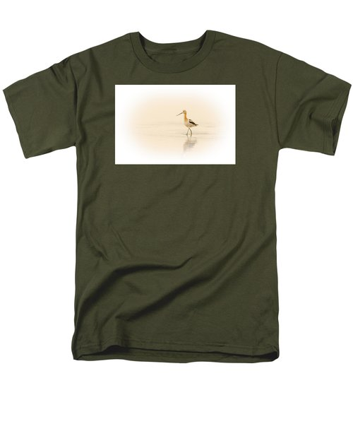 Men's T-Shirt  (Regular Fit) featuring the photograph Avocet Walk by Yeates Photography