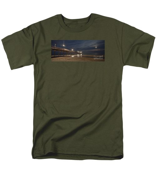 Avon Pier At Night Men's T-Shirt  (Regular Fit) by Laurinda Bowling