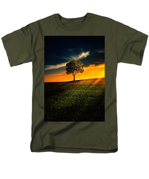 Awesome Solitude II Men's T-Shirt  (Regular Fit) by Bess Hamiti