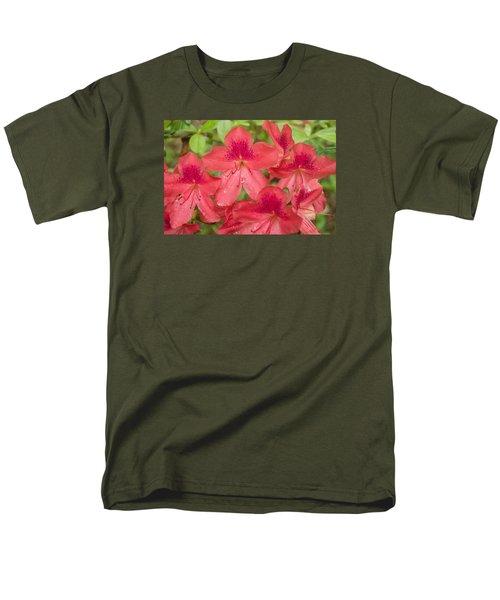 Azalea Blossoms Men's T-Shirt  (Regular Fit) by Linda Geiger