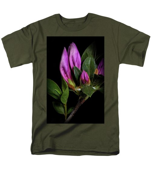 Men's T-Shirt  (Regular Fit) featuring the photograph Azalea Buds by Richard Rizzo
