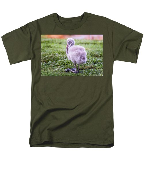 Baby Flamingo Sitting Men's T-Shirt  (Regular Fit) by Stephanie Hayes