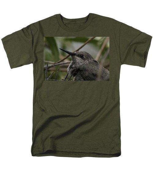 Baby Humming Bird Men's T-Shirt  (Regular Fit) by Lynn Geoffroy