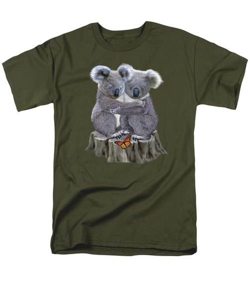 Baby Koala Huggies Men's T-Shirt  (Regular Fit) by Glenn Holbrook