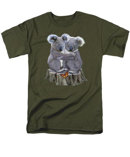 Baby Koala Huggies Men's T-Shirt  (Regular Fit) by Glenn Holbrook