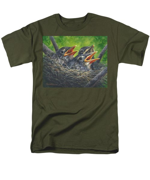 Men's T-Shirt  (Regular Fit) featuring the painting Baby Robins by Kim Lockman