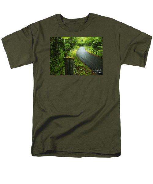 Back Road Men's T-Shirt  (Regular Fit) by Alana Ranney