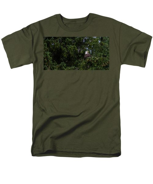 Bald Eagle In The Tree Men's T-Shirt  (Regular Fit) by Timothy Latta