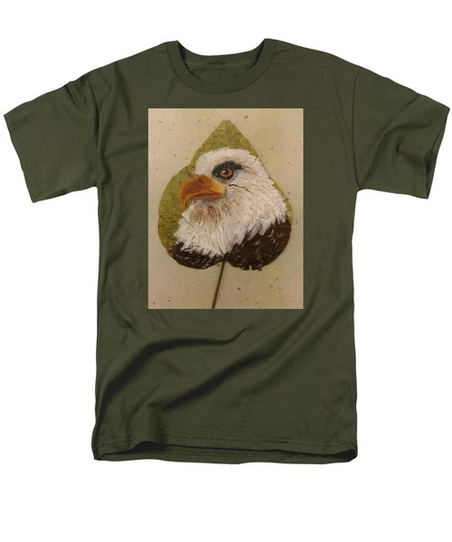 Bald Eagle Side Veiw Men's T-Shirt  (Regular Fit) by Ralph Root
