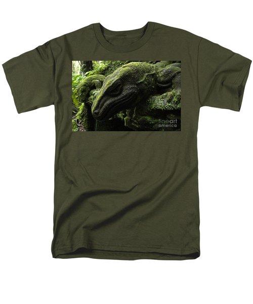 Bali Indonesia Lizard Sculpture Men's T-Shirt  (Regular Fit) by Bob Christopher