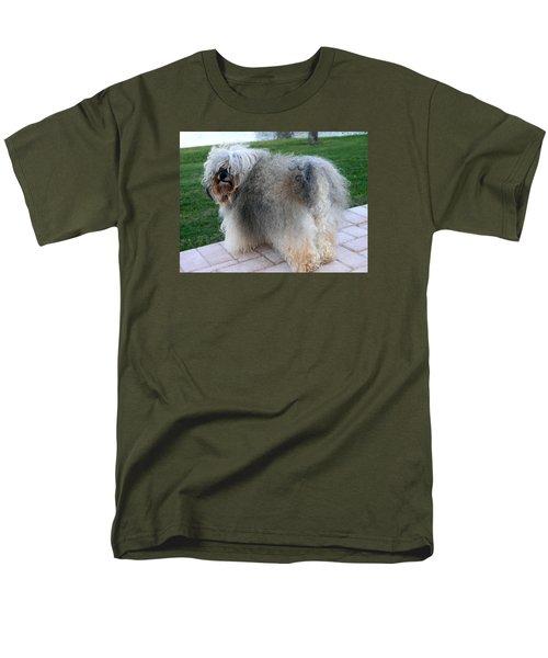 ball of fur Havanese dog Men's T-Shirt  (Regular Fit) by Sally Weigand