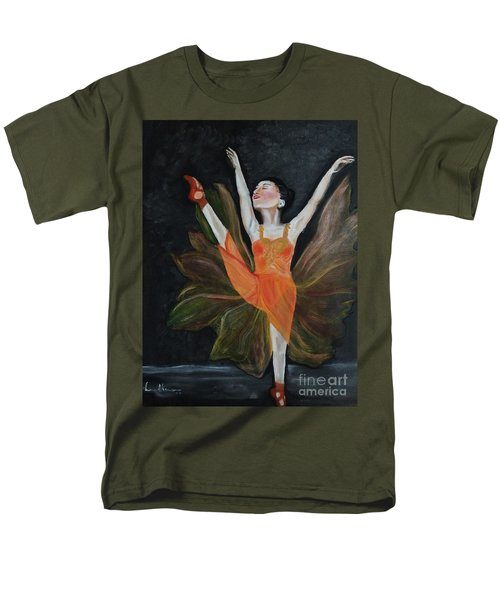 Men's T-Shirt  (Regular Fit) featuring the painting Ballet Dancer 1 by Brindha Naveen