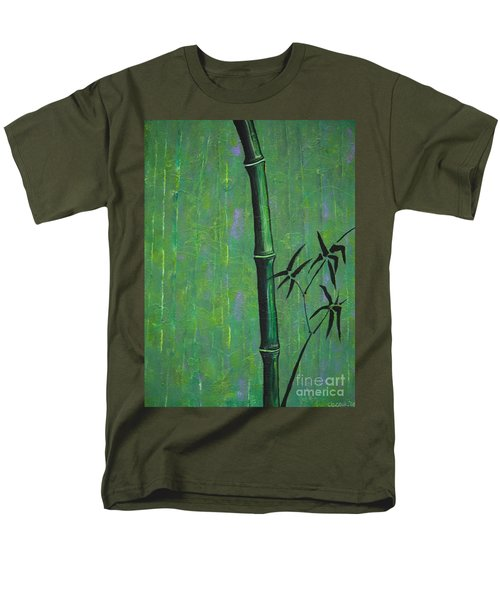 Men's T-Shirt  (Regular Fit) featuring the painting Bamboo by Jacqueline Athmann