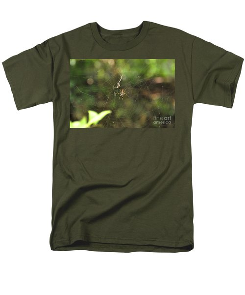 Men's T-Shirt  (Regular Fit) featuring the photograph Banana Spider In Web by John Black