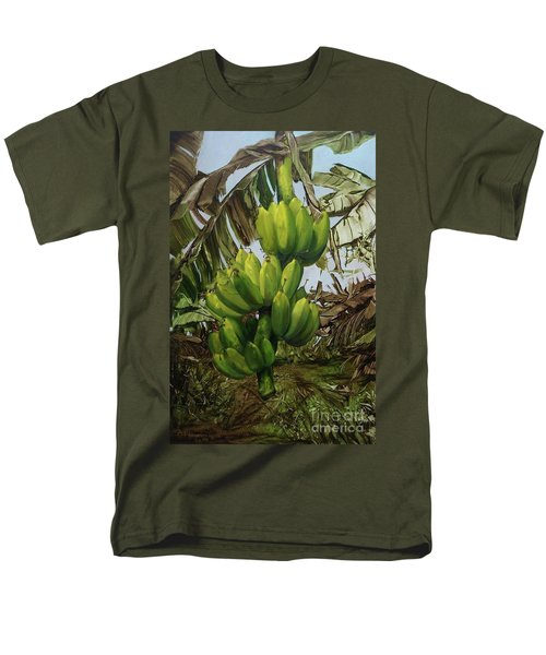 Men's T-Shirt  (Regular Fit) featuring the painting Banana Tree by Chonkhet Phanwichien
