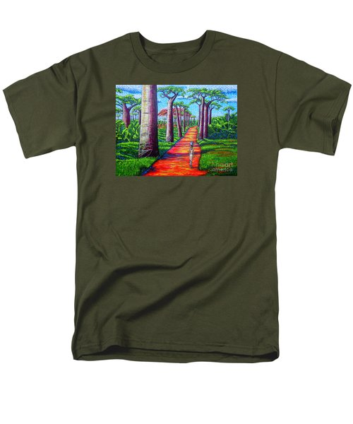 Men's T-Shirt  (Regular Fit) featuring the painting Baobab by Viktor Lazarev