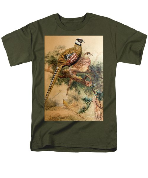 Bar-tailed Pheasant Men's T-Shirt  (Regular Fit) by Joseph Wolf