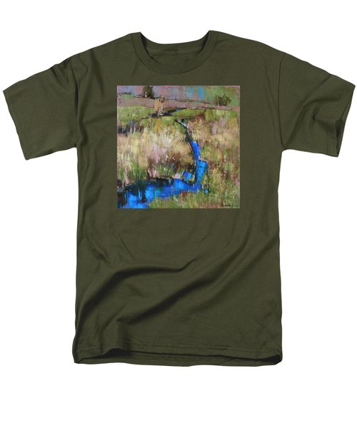 Men's T-Shirt  (Regular Fit) featuring the painting Barefoot In The Dew  by Anastasija Kraineva