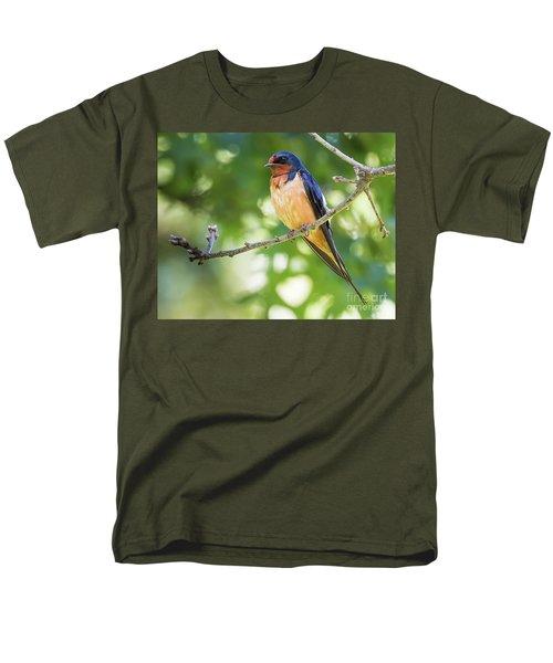 Barn Swallow  Men's T-Shirt  (Regular Fit) by Ricky L Jones