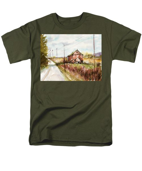 Barns And Electric Poles, Sunday Drive Men's T-Shirt  (Regular Fit) by Judith Levins