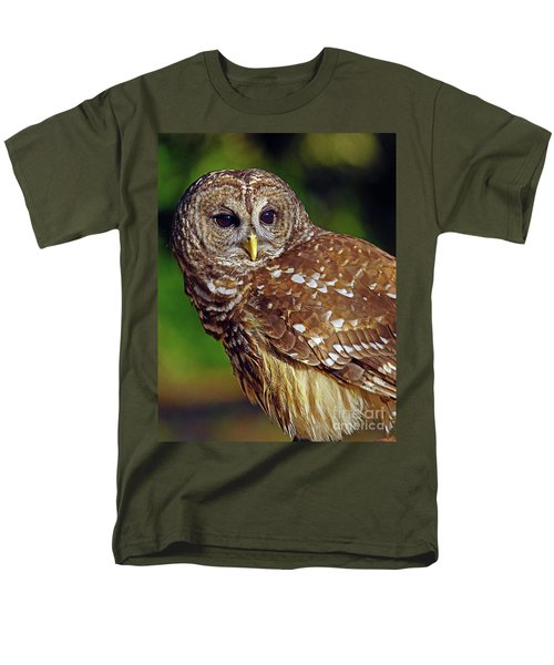 Men's T-Shirt  (Regular Fit) featuring the photograph Barred Owl by Larry Nieland